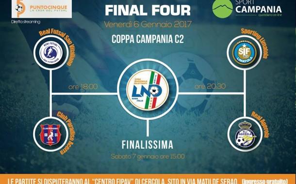 Serie C2, Final Four di coppa Italia: questa sera le due semifinali a Cercola. Diretta streaming