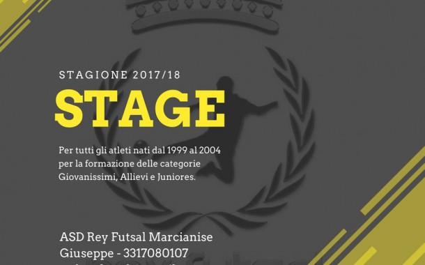 Rey Futsal Marcianise, da domani al via gli stage per i nati dal '99 al 2004