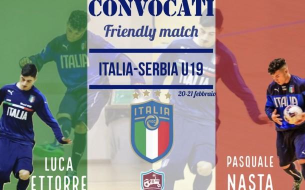 La Marcianise Futsal Academy raddoppia: Pasquale Nasta e Luca Ettorre convocati in Nazionale