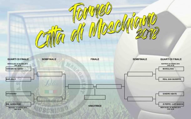 Torneo di Moschiano 2018. Stasera partono i quarti di finale anche con Bico e Maina