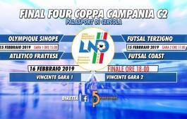 Coppa Campania C2, Final Four al PalaCercola: Sinope-Frattese e Terzigno-Coast. Domani la finale, tutto in diretta su Punto5