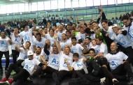 """Futsal Fuorigrotta, l'A2 è realtà. Il patron Perugino: """"Stagione perfetta, grazie a tutti"""". Capitan Nando: """"Dedica a Marcolino"""""""