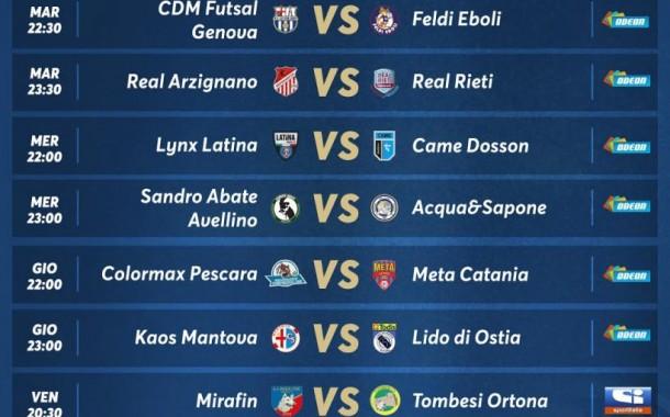 Futsal in TV, settimana piena di appuntamenti: Sportitalia, Social Match e Odeon