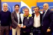 """Casaluce premiato dalla LND Campania per la vittoria nel girone E di D dello scorso anno. Fusco: """"Una grande emozione"""""""