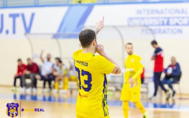 """Il Real San Giuseppe non sbaglia a Pomezia: Mirafin kappaò, tris di Lolo Suazo. Centonze: """"I ragazzi hanno fatto bene"""""""