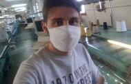 La storia di Alessandro Cimmino: l'azienda di famiglia riconverte la sua attività e distribuisce gratis mascherine a Limatola