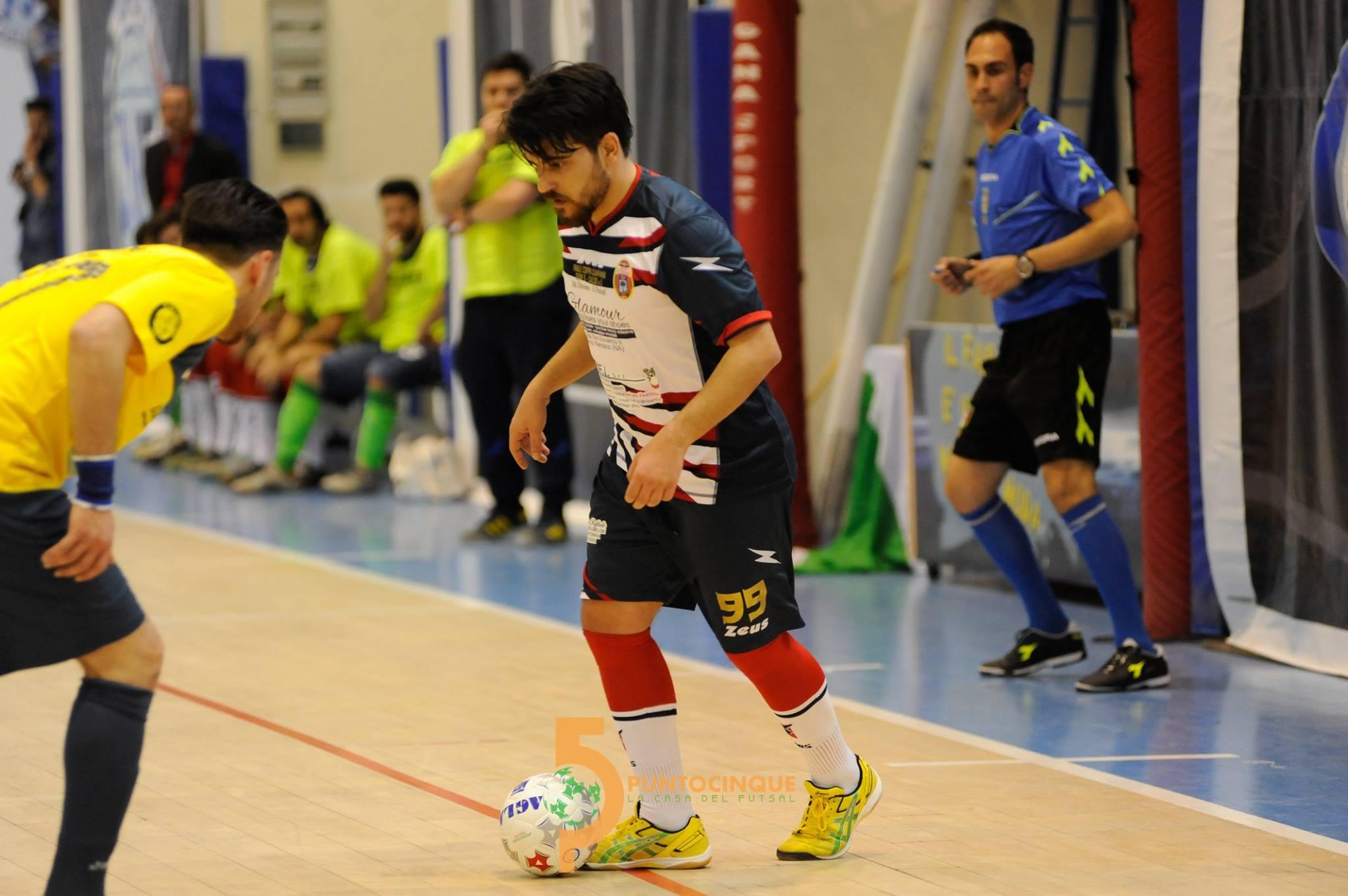 Paolo Ambrosio in uno scatto di Diego Di Donato ai tempi dell'Athletic Futsal Ottaviano