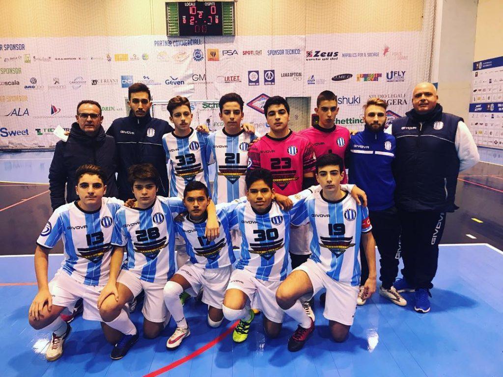Gli Allievi del Futsal Fuorigrotta