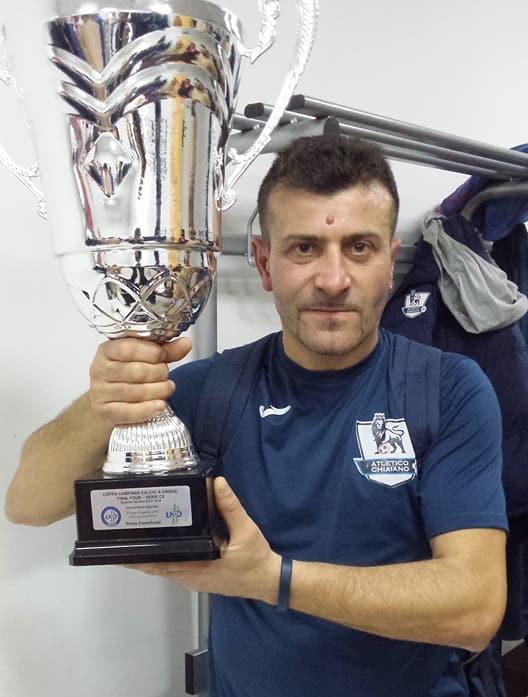 Umberto Del Giacco ai tempi dell'Atletico Chiaiano