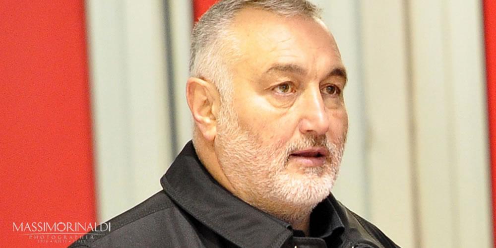 Roberto Pietropaoli, patron del Real Rieti, in uno scatto di Massimo Rinaldi