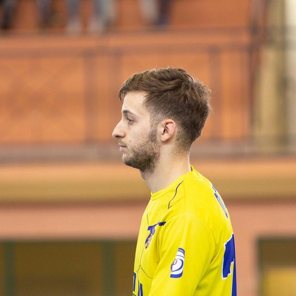 Antonio Orvieto con la maglia del Real San Giuseppe nella stagione appena trascorsa