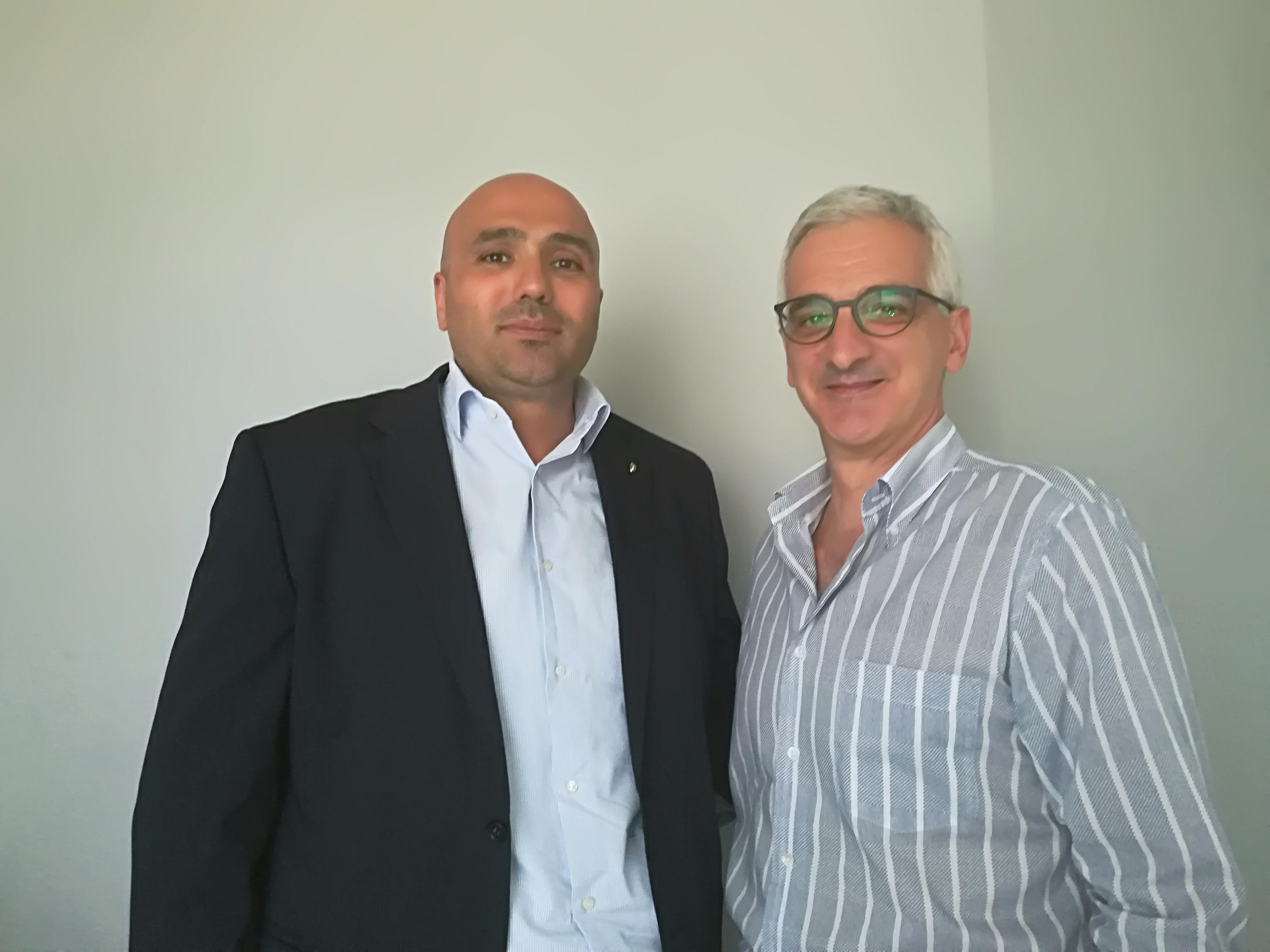 Nello Gaito, presidente dell'Atletico Vitalica, con Carmine Zigarelli, presidente C.R. Campania
