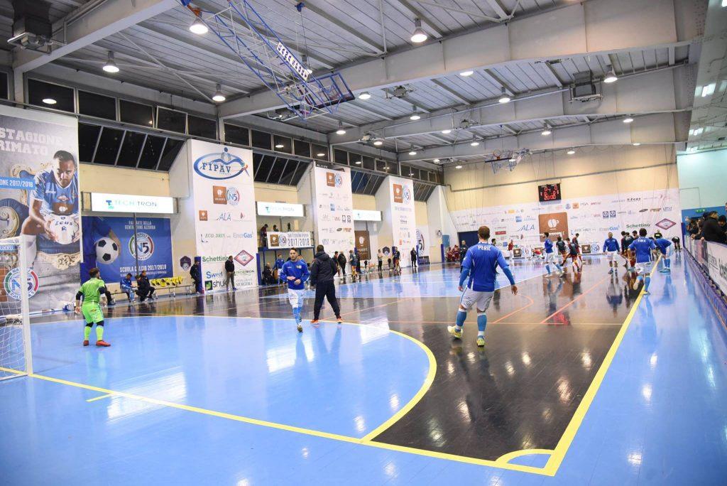 Il palasport d Cercola palcoscenico del Napoli calcio a 5 fino allo scorso anno