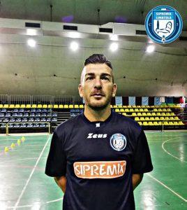 Giuseppe Andreozzi con la maglia della Sipremix Limatola