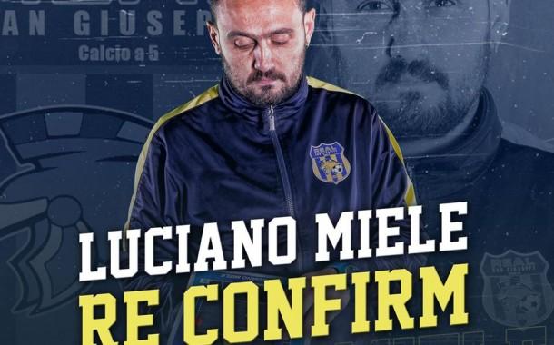 Real San Giuseppe, il doppio sì di Luciano Miele: match analyst e tecnico dell'Under 19
