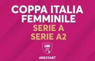Coppa Italia femminile: modalità e date per Serie A e A2