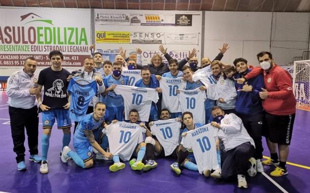 """Nel nome di Diego. Il Napoli espugna Bernalda e omaggia il suo Re. Perugino: """"Emozionante quel gol"""""""