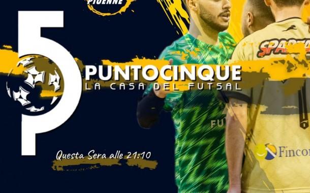Stasera torna Punto 5 la Casa del Futsal alle 21.10 su Piuenne, replica ore 22:40: Bellarte, Calabresi e Giannattasio in collegamento telefonico
