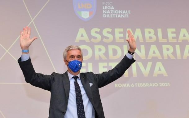 """Sibilia confermato presidente della LND. """"L'auspicio è quello di offrire un contributo ancora più incisivo"""""""