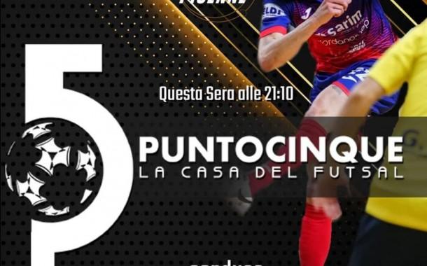 Questa sera torna Punto 5 la Casa del Futsal: ore 21.10 su Piuenne