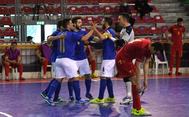L'Italfutsal chiude col sorriso: 2-0 al Montenegro nell'ultima di qualificazione a Euro 2022