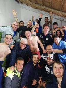 L'esplosione di gioia del Futsal Coast negli spogliatoi