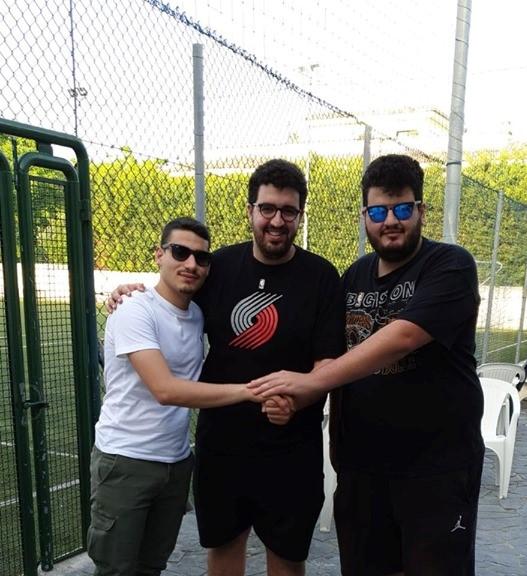 Alessandro Tirotta con Giuseppe e Claudio Giordano