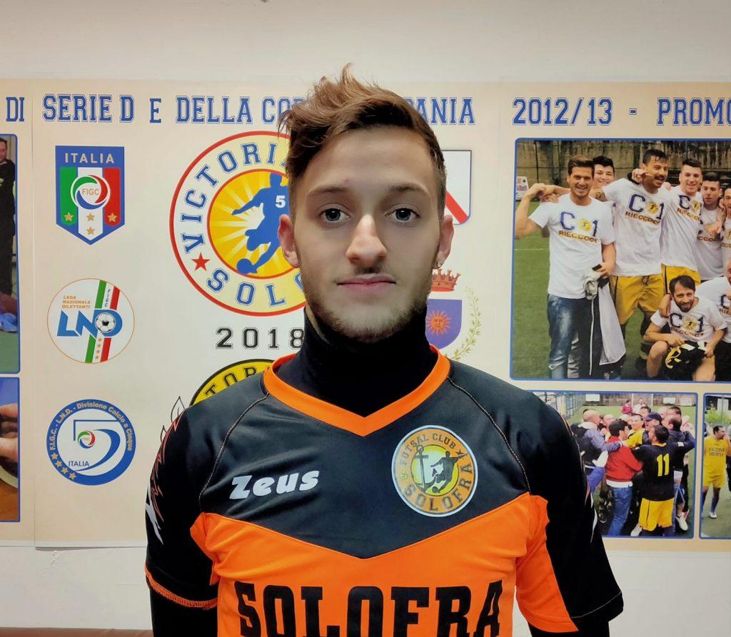 Antonio Orvieto con la maglia del Solofra
