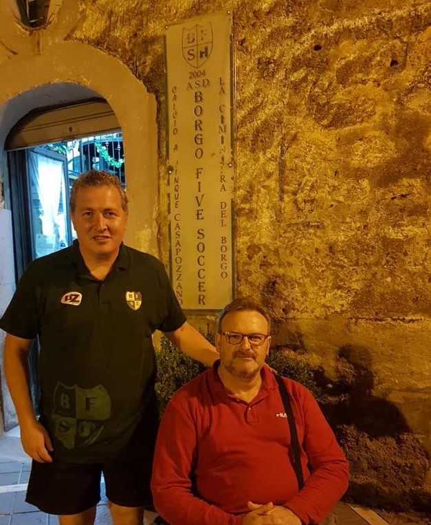 Nicola Orefice e Carmine Lampitelli, tecnico e presidente del Borgo Five