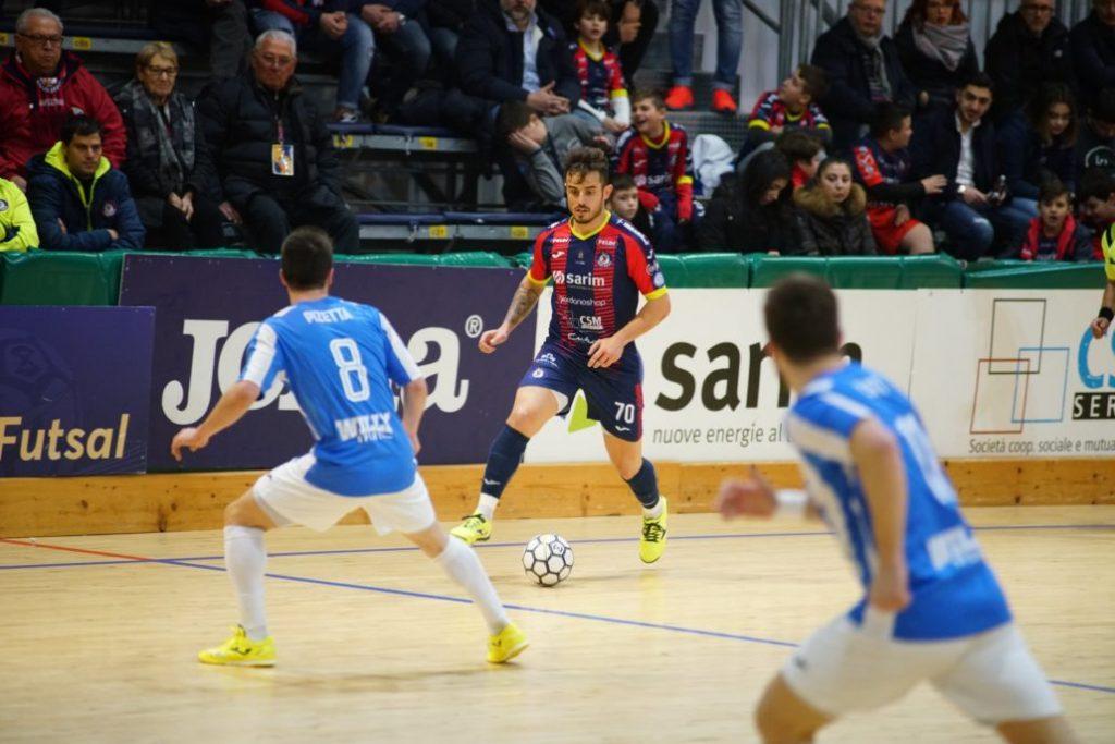 Marco Boaventura con la maglia della Feldi