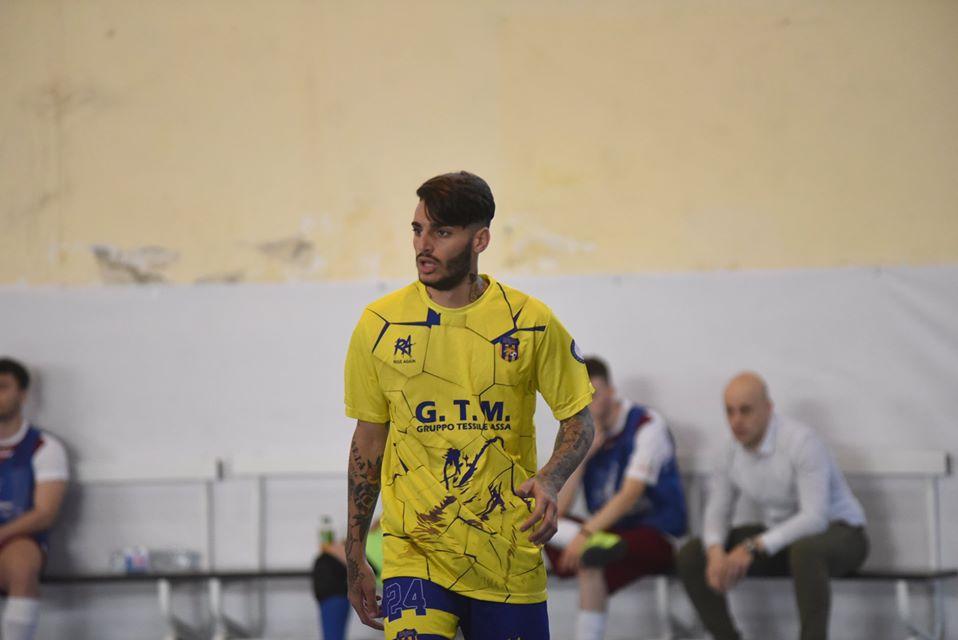 Carlo Nunziata con la maglia del Real San Giuseppe