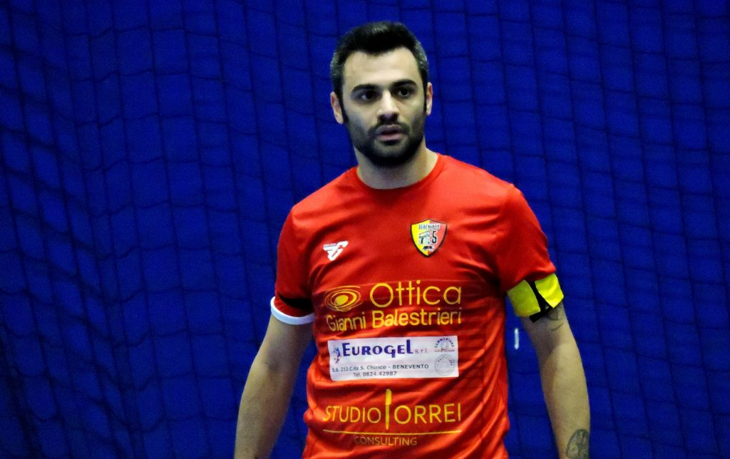 Nico Serino, capitano del Benevento 5