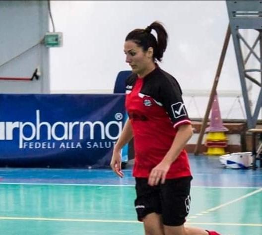 Giulia Botta con la maglia della Dinamo Sorrento