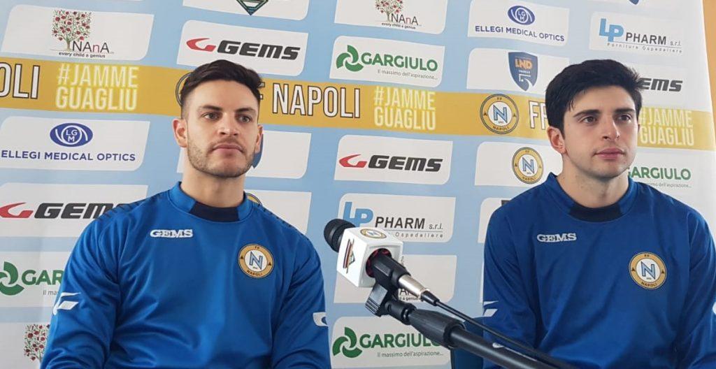 Renzo Grasso e Nando Perugino, conferenza stampa pre gara Bernalda-FF Napoli