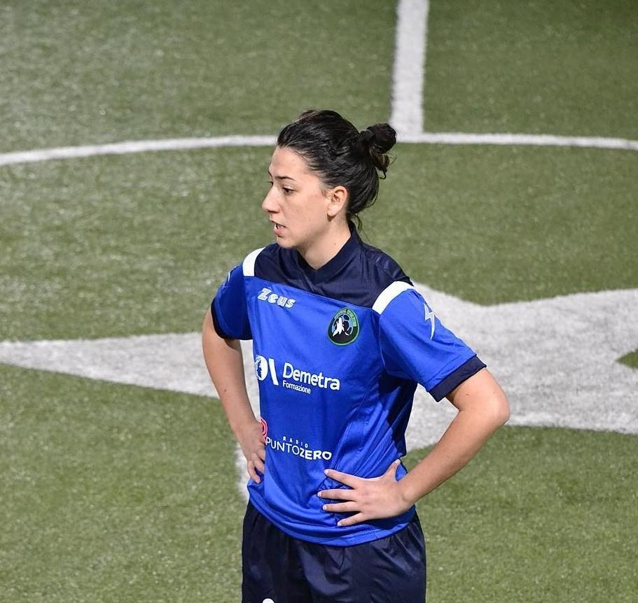 Simona Razza, autrice di una doppietta in Torella dei Lombardi-Wolves