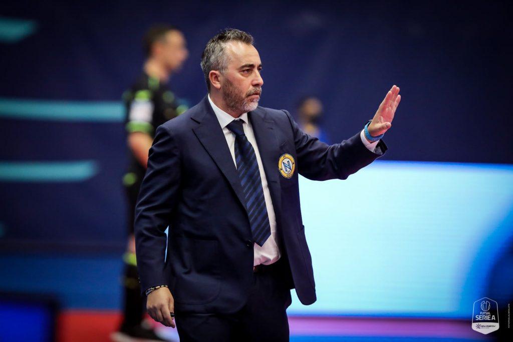Piero Basile alla Sky Arena contro il Pesaro